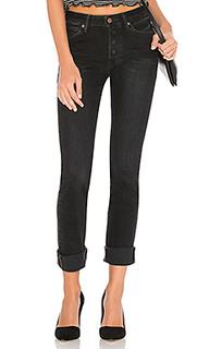 Узкие прямые джинсы с потертостями - Brappers Denim