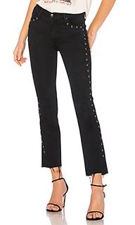 Укороченные джинсы с бахромой bardot - Black Orchid