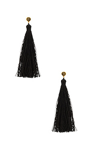 Tulum gemstone tassel earrings - gorjana