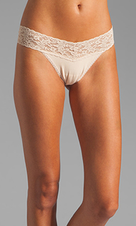 Organic cotton low rise thong - Hanky Panky
