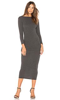 Платье с длинным рукавом low back - James Perse