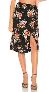 Flower wrap skirt - MINKPINK