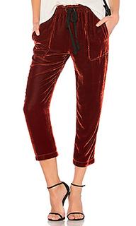 Бархатные брюки drawstring - Raquel Allegra