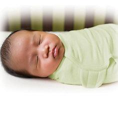 Конверт для пеленания на липучке SWADDLEME, р-р S/M, 3-6 кг., зелёный Summer Infant