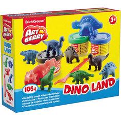 """Набор для лепки """"Остров динозавров"""" (10 предметов) Erich Krause"""