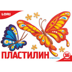 Пластилин «Классика» 16 цветов, 20 г Lori