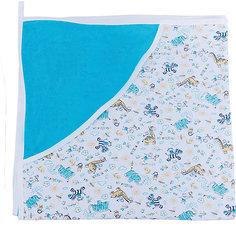 Махровое полотенце с уголком, Сонный гномик, голубой