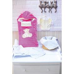 Комплект на выписку 9 пред., GulSara, 80 весна-осень, велюр, розовый