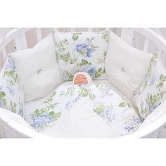 Комплект постельного белья в круглую кроватку, 6 предметов, Gulsara