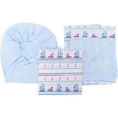 Постельное белье Кораблики 3 пред. бязь, на резинке, Непоседа, голубой
