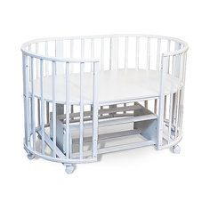 Кроватка-трансформер Sweet Baby Delizia Bianco с маятником, белый