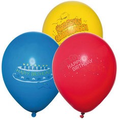 "Шары воздушные "" Happy Birthday"", яркие, 6 шт Herlitz"