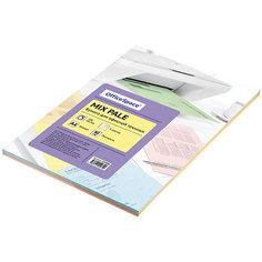 Бумага цветная pale mix А4 100 листов OfficeSpace, 5 цветов