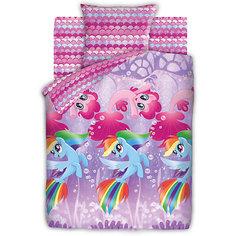 Комплект постельного белья 1.5 бязь My Little Pony (70х70)  Подводные пони Непоседа