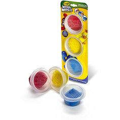 Волшебный пластилин Crayola, 3 цвета в баночках