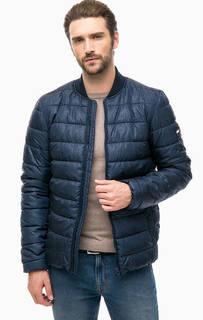 Синяя куртка из фактурной ткани Hilfiger Denim