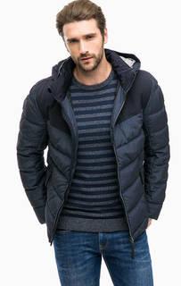 Синяя куртка со съемным капюшоном Tom Tailor