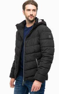 Черная куртка со съемным капюшоном Tom Tailor
