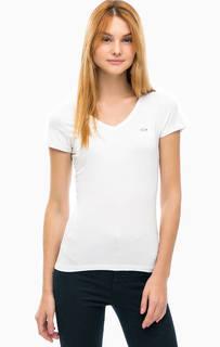 Базовая футболка с треугольным вырезом Lacoste