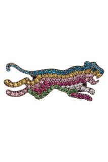 Кольцо с разноцветными кристаллами Gucci