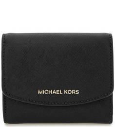 Черный кошелек из сафьяновой кожи Michael Michael Kors