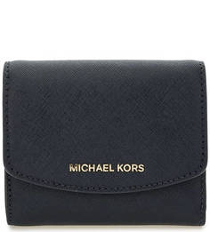 Синий кошелек из сафьяновой кожи Michael Michael Kors