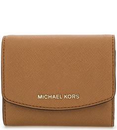 Коричневый кошелек из сафьяновой кожи Michael Michael Kors