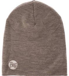Шерстяная шапка с логотипом бренда Buff