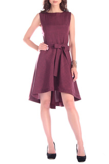 Платье ассиметричной длины с бантом MAURINI