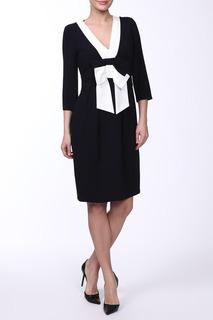 Платье с бантом, V-образный вырез, рукава 3/4 E.LEVY