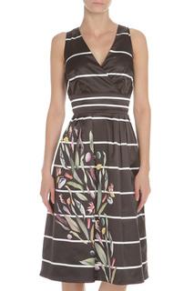 Платье с запахом и принтом по юбке Rinascimento