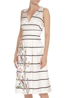 Платье с принтом по юбке Rinascimento