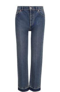 Укороченные джинсы прямого кроя с потертостями Balenciaga