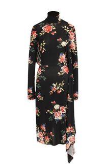 Платье-миди с открытой спиной и цветочным принтом Vetements