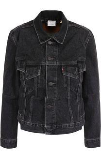 Джинсовая куртка прямого кроя с потертостями Vetements