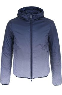 Утепленная куртка на молнии с капюшоном Armani Jeans