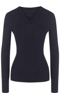 Шерстяной пуловер с V-образным вырезом Alaia