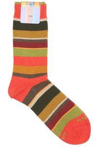 Хлопковые носки в контрастную полоску Gallo