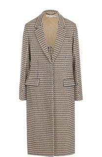 Шерстяное пальто свободного кроя в клетку Stella McCartney