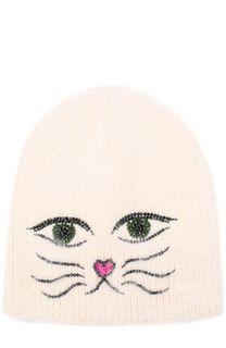 Шерстяная шапка с отделкой из страз Jennifer Behr