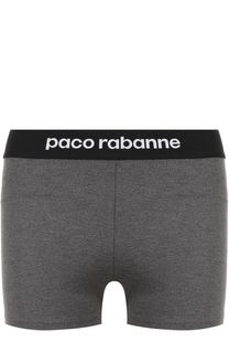 Однотонные шорты с эластичным поясом Paco Rabanne