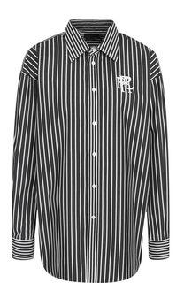 Хлопковая блуза в контрастную полоску Polo Ralph Lauren