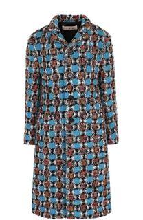 Приталенное шерстяное пальто Marni