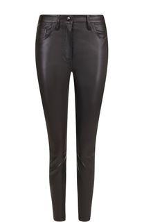 Укороченные кожаные брюки-скинни The Row