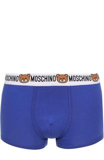 Комплект из двух хлопковых боксеров с широкой резинкой Moschino