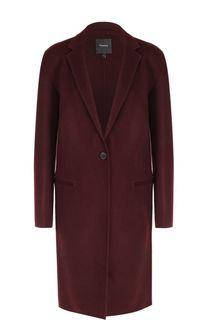Пальто прямого кроя из смеси шерсти и кашемира Theory
