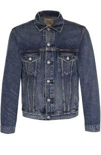 Джинсовая куртка на пуговицах с потертостями Polo Ralph Lauren