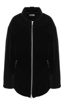 Бархатная куртка с воротником-стойкой Dries Van Noten