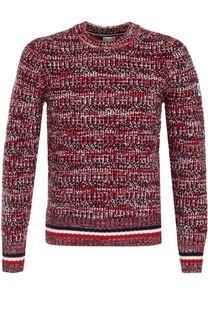 Шерстяной свитер фактурной вязки Moncler