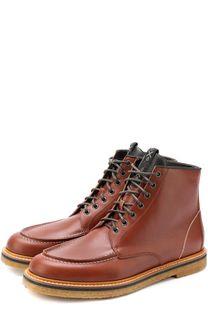 Высокие кожаные ботинки на шнуровке O.X.S.